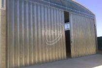 Portão de fole galvanizado