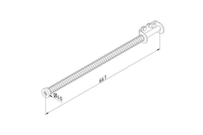 Amortecedor Batente de Portão Industrial Simples 25329